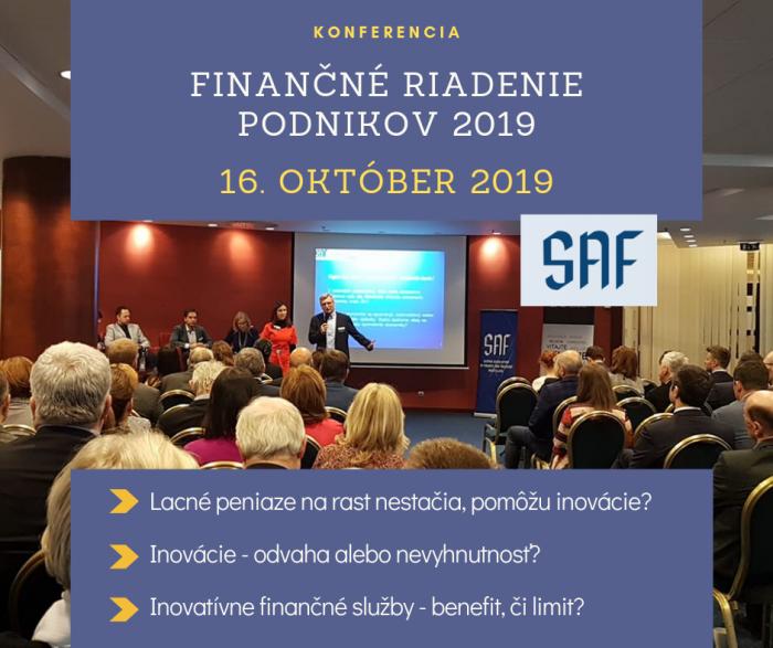 Konferencia - Finančné riadenie podnikov 2019
