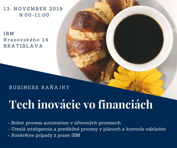 Posledné voľné miesta - bezplatné biznis raňajky - 13.11.2019