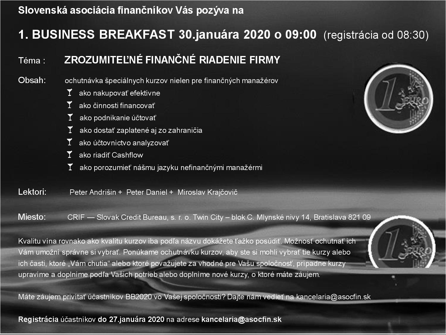 1. Business Breakfast SAF 30.01.2020