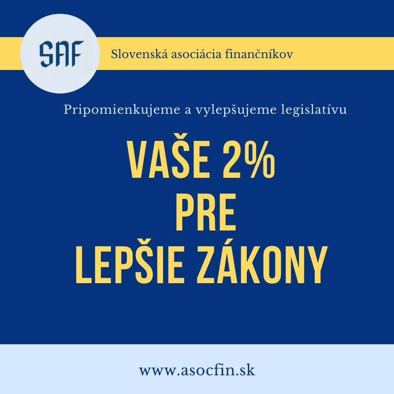 Aj v roku 2020 je SAF prijímateľom 2% z daní za rok 2019
