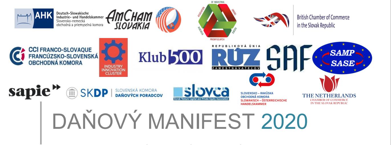 Daňový manifest 2020